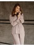 Рубашка пижамная серый штапель