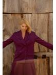 Костюм - пиджак двубортный, брюки клеш марсала
