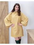 Платье реглан в желтом цвете