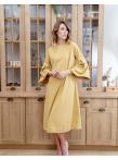 Платье колокол в желтом цвете