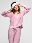 Пижама с брюками в полоску